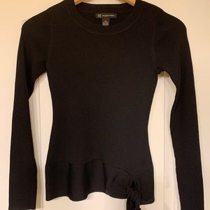 NWT INC Black Ribbed Sweater